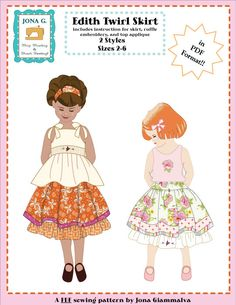 fairytale frocks and lollipops :: jona g, edith twirl skirt, girl, skirt, summer, spring, fall, layer, ruffle, tiered, party, sewing, instant, e-pattern, downloadable, pdf, e-book, tutorial, seperates