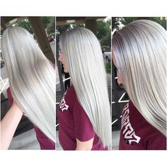 My clients are Blonde-orexic. for the blonde Platnium Blonde Hair, Platinum Blonde, Hair And Makeup Artist, Hair Makeup, Shot Hair Styles, Long Hair Styles, Icy Hair, Pulp Riot Hair, White Blonde