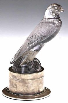 Rene Lalique Falcon Hood Ornament 2..Re-pin brought to you by agents of #Carinsurance at #HouseofInsurance in Eugene, Oregon