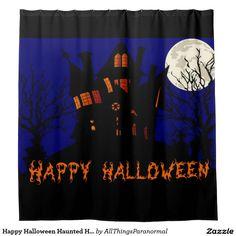 Happy Halloween Haunted House Shower Curtain
