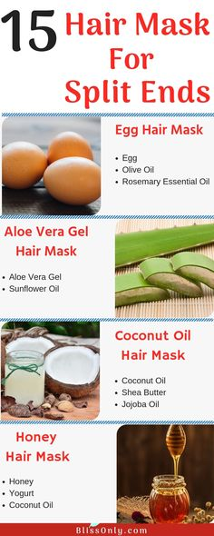 15 Effective Hair Mask For Split Ends-That Are Easy To Make - BlissOnly