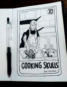 COOKING SKULLS  ink - paper  Ryan Ktistianto