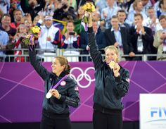 2012 London Olympics, Misty May-Treanor and Kerri Walsh won their third Olympic gold.olleyball