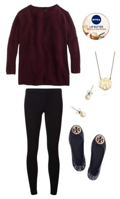 """""""Fall"""" by hbcernuto ❤ liked on Polyvore featuring J.Crew, Nivea, BaubleBar, Tory Burch and James Perse"""
