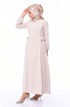 Sefamerve, Yandan Bağlamalı Elbise 5261-04 Vizon The Dress, Dresses With Sleeves, Long Sleeve, Fashion, Moda, Sleeve Dresses, La Mode, Gowns With Sleeves, Vestidos