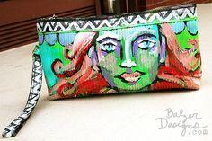 Hand painted bag by Julie Fei-Fan Balzer