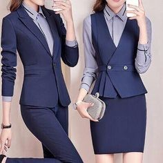 Workwear Fashion, Suit Fashion, Work Fashion, Fashion Outfits, Work Dresses For Women, Suits For Women, Clothes For Women, Classy Business Outfits, Classy Outfits
