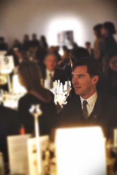 Benedict Cumberbatch at the British GQ's 25th Anniversary Auction that benefited Prince's Trust