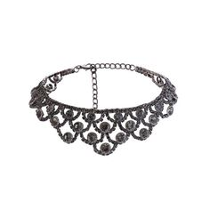 Alloy Sparkly Rhinestone Necklace Gun Metal ($5.48) ❤ liked on Polyvore featuring jewelry, necklaces, sparkly necklace, gunmetal necklace, gun metal necklace, sparkle jewelry and rhinestone jewelry