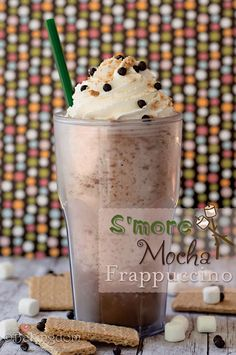 S'more Mocha Frappuccino - Mormon style use 1/3 cup chocolate chips (mmm... chocolate!)  3 tablespoons chocolate syrup (Hershey's will do) 1/8 teaspoon vanilla. Then tweet the flavor to your liking. Experiment with  cinnamon, nutmeg, toffee, and maple syrup.