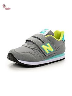 NEW BALANCE Chaussure Junior Velcro – KV373 Autumn Leaves pre-z5 –  Yellow aqua 5b4d67e32bf
