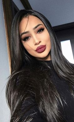 Ugeat Lace Front Wigs Human Hair Straight Natural Black Color for Black Women is Made of Unprocessed Virgin Remy Human Hair. Unprocessed Human Hair, Big Sale For Slay Girl. Gina Lorena, Office Makeup, Beauty Makeup, Hair Beauty, Gorgeous Makeup, Amazing Makeup, Pretty Makeup, Remy Human Hair, Remy Hair