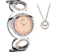 Buy Seksy Ladies' Rose Gold Bracelet Watch and Pendant Set at Argos.co.uk, visit Argos.co.uk to shop online for Ladies' watches, Watches, Jewellery and watches