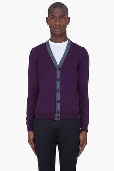 DSQUARED2 Purple Wool Knit Cardigan