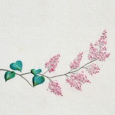 korean embroidery. syringa_dilatata #lilac