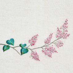 #야생화자수 #수수꽃다리 #라일락  #꿈소 #꿈을짓는바느질공작소 #자수 #embroidery #handembroidery #embroideryart #sewing #needlework #stitchart #syringa_dilatata #lilac #dmc #wildflowers #handmade
