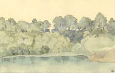 W.G. Lewis - Mid 20th Century Watercolour, Swanbourne Lake, Arundel Park