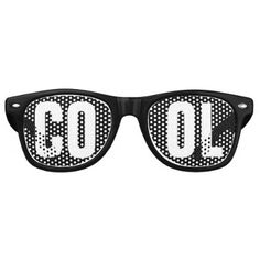 'COOL' Black and White Party Retro Sunglasses - birthday gifts party celebration custom gift ideas diy