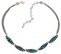 Halskette Back To The Future grün Blau Zirkon