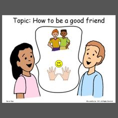 Free Sample: This visual reminds students in class conversation to stay on topic (how to be a good friend). Place the topic or topics of conversation to reference if needed. Custom make your own at LessonPix. Speech Therapy, Make Your Own, Conversation, Best Friends, Students, Templates, Free, Speech Pathology, Beat Friends