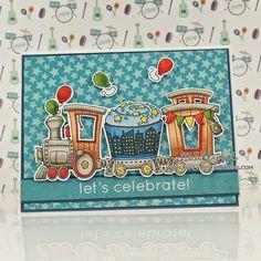 Craftybit: Link Train - Little Miss Muffet Stamp
