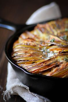 This Thanksgiving Tian is made up of some of my favorite fall produce; Russet and sweet potatoes, delicata squash, tart green apples, and leeks all cozy up next to each other in a citrus and thyme spiked custard. It will quite possibly be the most beautiful dish on your Thanksgiving table.