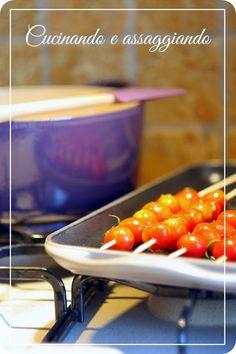 Cucinando e assaggiando...: Spiedini di pomodorini