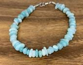 Chip and nugget shaped beaded amazonite anklet! So beachy, super chic, and made for stacking!