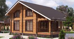 Проект деревянного дома — дом из бруса Дом Лесника — ДЛ-156