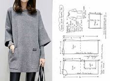 Dress Sewing Patterns, Knitting Patterns, Pattern Drafting, Pants Pattern, Sewing Clothes, Costume Design, Pattern Fashion, Tunic Tops, Sweaters