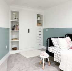 Jennifer Gizzi (@makingprettyspaces) • Instagram photos and videos Closet Hacks, Ikea Closet, I Want Pizza, Pax Wardrobe, Wardrobe Storage, Ikea Living Room, Living Rooms, Painting Tile Floors, Modern Closet