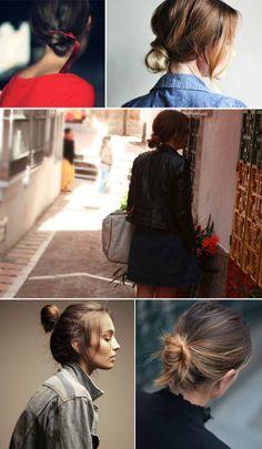 Moños estilo Top-knot...
