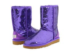 UGG Classic Short Sparkles Boots with Passion purple Women Boots