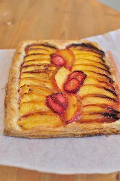 strawberry-nectarine puff-pastry galette