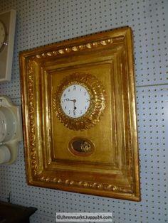 Wanduhr Rahmenuhr Holz vergoldet Gehwerk - Mechanische - Standuhren - Clock, Home Decor, Grandfather Clocks, Desk Clock, Frame, Watch, Decoration Home, Room Decor, Clocks