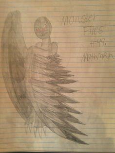 Monster Files #49. Mothman by ScarletSpike on DeviantArt