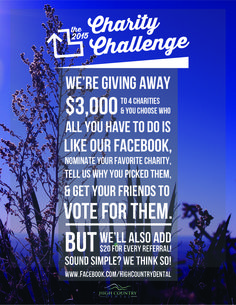 #the2015CharityChallenge is a social media campaignto promote High Country Dental's brand in a positive, engaging way. I created the campaign to show the community interactiveness that is very prominent for the office. The campaign was successful in raising awareness and brand loyalty.