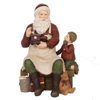 Clayre Eef Weihnachten Deko Weihnachtsmann Junge Weihnachtsschmuck  Polyharz