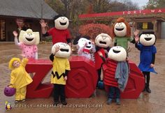 Awesome Peanuts Gang Family Costume