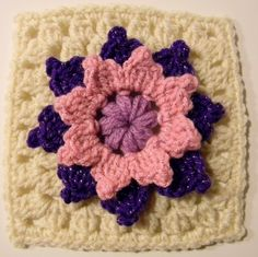 """""""Ring Around the Posies"""" Granny Square - Glamour4You..pay pattern"""