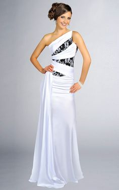 Elegant Trumpet Satin Sleeveless Sweep Train One Shoulder Evening Dresses - Formal Dresses