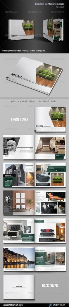 Business Portfolio Template - Portfolio Brochures: