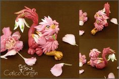 Trinni the flower griffiness - polymer clay by CalicoGriffin.deviantart.com on @DeviantArt