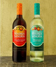 Madria Sangria picture of traditional Sangria and Madria Sangria moscato