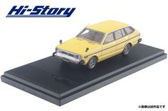 INTERALLIED Hi-Story 1/43 NISSAN SUNNY CALIFORNIA 1400SGL 1979 Yellow DieCast #interallied