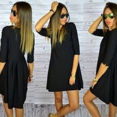 Popular women dress OL temperament dress O-Neck half sleeve dresses dovetail dress loose plus size audrey hepburn  Price: US $9.99  Sale Price: US $9.99  #dressional