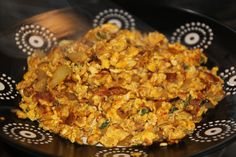 Bhurji / Burji (Indian Version of Scrambled Eggs) can be served as a side dish for breakfast,lunch or dinner Scrambled Eggs, Paella, Side Dishes, Rice, Lunch, Dinner, Breakfast, Ethnic Recipes, Food