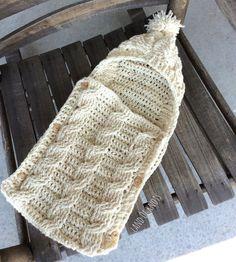 Crochet newborn cocoon newborn swaddle infant by LandOfKnots