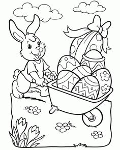 Easter coloring page, Easter Coloring Pages Printable, Easter Coloring Sheets, Easter Bunny Colouring, Coloring Book Pages, Coloring Pages For Kids, Easter Coloring Pictures, Easter Paintings, Easter Art, Easter Colors