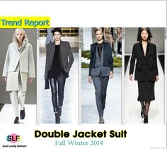 Double Jacket Suit #Fashion Trend for Fall Winter 2014 #Jacket #Fall2014 #FW2014 #Trends